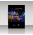 Cover calendar 2016 polygonal design vector image