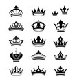 crowns silhouettes vector image
