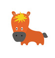 cute little red pony cartoon vector image