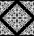 damask seamless pattern black and white vector image vector image