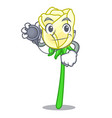 doctor white rose in the shape cartoon vector image vector image