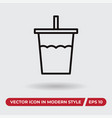 drink icon in modern style for web site and vector image vector image