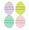 easter eggs with bunny stripe patterns vector image vector image