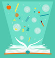 educational book open textbook with education vector image