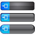 Entrance button set vector image