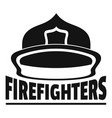 firefighters helmet logo simple style vector image vector image