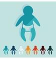 Flat design baby vector image