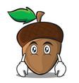 flat face acorn cartoon character style vector image vector image