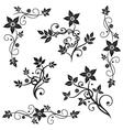 Floral elements ornaments vector image vector image