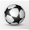 football ball soccer ball on transparent vector image
