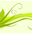 Green floral ornament vector image vector image