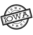 Iowa rubber stamp vector image vector image