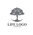 life tree consult management logo designs vector image