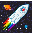 Love rocket vector image