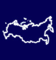 map of russia with the effect of neon light neon vector image