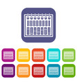 music equalizer console icons set flat vector image vector image