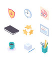 office supplies - modern colorful isometric vector image