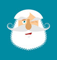 old man winks emoji senior with gray beard face vector image