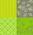Patterns in grey and green vector image vector image