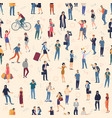 people crowd seamless background vector image
