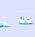 people floating on paper boat men women using vector image vector image