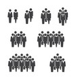 people staff crowd group icon on white background vector image