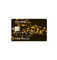 plastic credit card vector image vector image