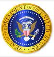 presedent seal depiction vector image vector image