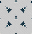 road cone icon Seamless pattern with geometric vector image