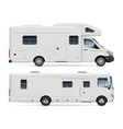 rv camper vans side view vector image