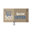 Sale Coupon certificate template vector image vector image