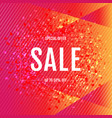 sale orange and pink banner with confetti vector image vector image
