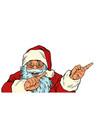 santa claus shows side christmas vector image vector image