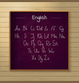 school chalkboard on the wooden background vector image
