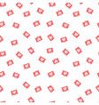 seamless pattern with love notification symbol vector image vector image