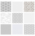 set black white geometric seamless background vector image vector image