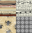 Set of a patterns tribal pattern vector image vector image