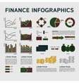 Set of Financial Infographics Elements on Grey vector image vector image
