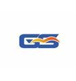 SG letter logo vector image