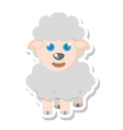 sheep animal farm isolated icon vector image vector image