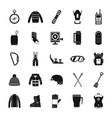 snowboard equipment winter icons set simple style vector image