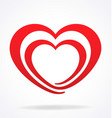 stylised dual valentine heart vector image