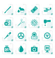 stylized medicine and hospital equipment icons vector image vector image