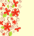 Summer flowers background vector image