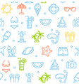 summer travel recreation holiday pattern vector image vector image