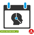 Telemarketing Operator Calendar Day Eps vector image vector image