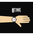 Time design vector image
