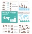 Travel and world tourism Infographic vector image vector image