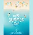 tropical beach poster enjoy summer vector image vector image