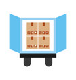 truck delivery with boxes service icon vector image vector image